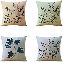 IUEVC Pillowcase 4-Piece Set Linen Hug Pillowcase