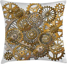 Iunia Clock Steampunk Gears Outdoor Cushion Cover