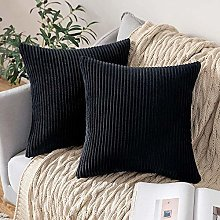 IUYJVR Set of 2 Decorative Corduroy Cushion Covers