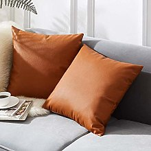 IUYJVR Set of 2 Leather Cushion Cover Cushion