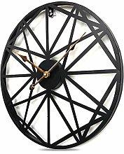 IVhomeshop 50cm Large Round metal wall clock Large