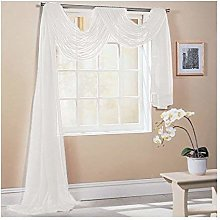 """IVORY 59X197"""" 150X500CM TAILORED VOILE WINDOW"""