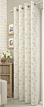 Ivory/Cream Lace Butterfly Voile Net Curtain Panel