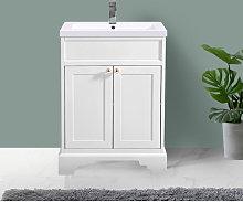 Ivory Floor Standing Bathroom Furniture Vanity