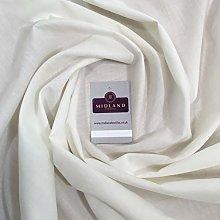 Ivory Poly Cotton Fabric - Dress Craft 44 Inch