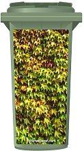 Ivy Leaves Wheelie Bin Sticker Panel Extra Large