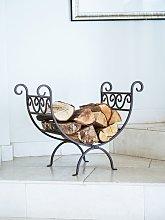 Ivyline Vintage Iron Fireplace Log Holder