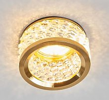 Iwen Built-In Light with Crystal Decoration Gold