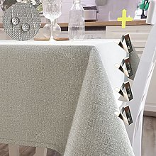 Iycnkok Tablecloth Square Table Cloth Faux Linen