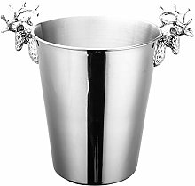 Iycorish 3L Ice Bucket Steel Wine Ice Bucket Wine