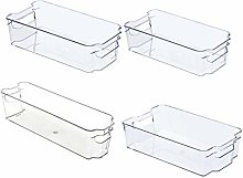 Iycorish Fridge Organizer Storage Bins (4Pcs)