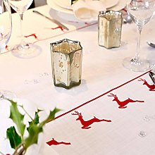 Izabela Peters 2.1M - Vintage Red Stag Tablecloth