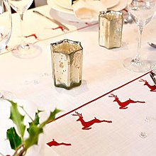 Izabela Peters 2 M - Vintage Red Stag Tablecloth -