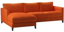 Izzy Small LHF Chaise Sofa in Paprika Smart Velvet
