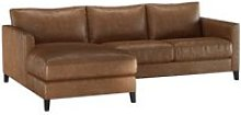 Izzy Small LHF Chaise Sofa in Tan Vintage Leather