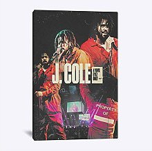 J. Cole Poster Painting Wall Art Canvas for Living