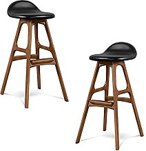 J-DYHGB Bar Stool With Short Backrest And Footrest