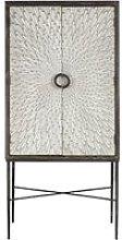 Jabbah Wooden Wine Cabinet In Grey