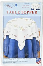 Jack Dempsey Stamped White Perle Edge Table Topper