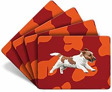 Jack Russell - Set of 4 Table Mats - Leslie Gerry