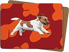 Jack Russell Table Mat by Leslie Gerry - Placema