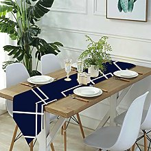 Jack16 Modern Navy and White Geometric Table
