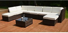 Jacoby 8 Seater Rattan Corner Sofa Set With