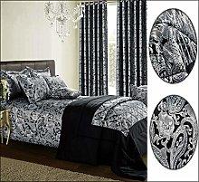 Jacquard 3 Piece Duvet Quilt Cover Bedding Set