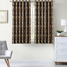 Jacquard Curtains Pair Fully Lined Ring Top