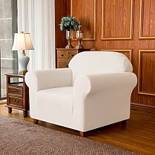 Jacquard High Stretch Box Cushion Armchair