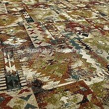 Jacquard Kilim Patchwork Pattern Multi Colour Red