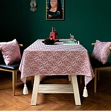 Jacquard Light Luxury Style Tablecloth Solid Color