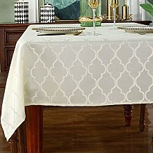 Jacquard Rectangle Tablecloth-Spill Proof Shrink