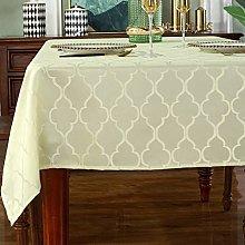 Jacquard Rectangle Tablecloths-Spill Proof Shrink