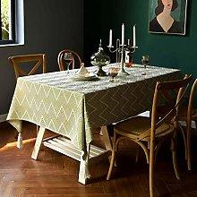 Jacquard Tablecloth, Cotton Linen Washable Table