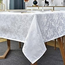 Jacquard Tablecloth Floral Pattern Polyester Table