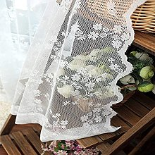 Jacquard Voile Curtains Flowers Sheer Curtains