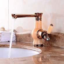 Jade Basin Water Tap Gold Hot and Cold Water Mixer