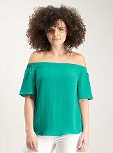 Jade Green Bardot Top - 28