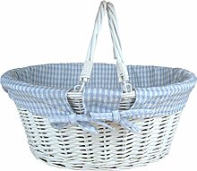 Jaffa Imports Whitewashed Wicker Shopping Basket