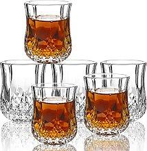 JAIEF 50ml Shot Glasses, Lead-Free Glass, Clear