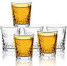 JAIEF 60ml Shot Glasses, Lead-Free Glass, Clear