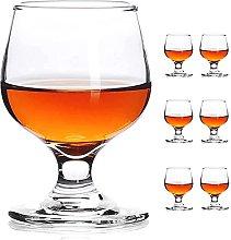 JAIEF 80ml Shot Glasses, Lead-Free Glass, Clear