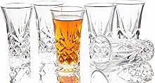JAIEF Set of 6 Tequila Glasses Heavy Base Shot