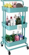 JAKAGO Kitchen Trolley on Wheels 3 Tier Basket