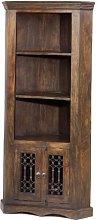 Jali Sheesham Corner Display Cabinet - Furniture
