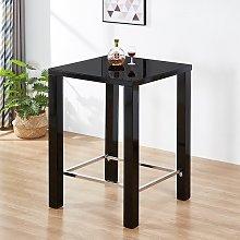 Jam Modern Glass Bar Table Square In Black High