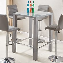 Jam Modern Glass Bar Table Square In Grey High