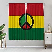 Jamaican Curtains, Reggae Peace Symbol Caribbean