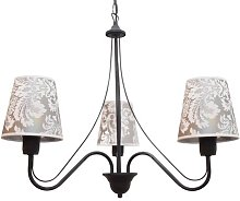 Jamel 3-Light Shaded Chandelier Lily Manor